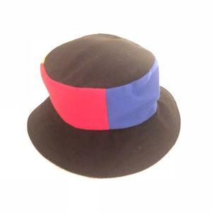 Deborah Rhodes Mocha Color Block Bucket Hat